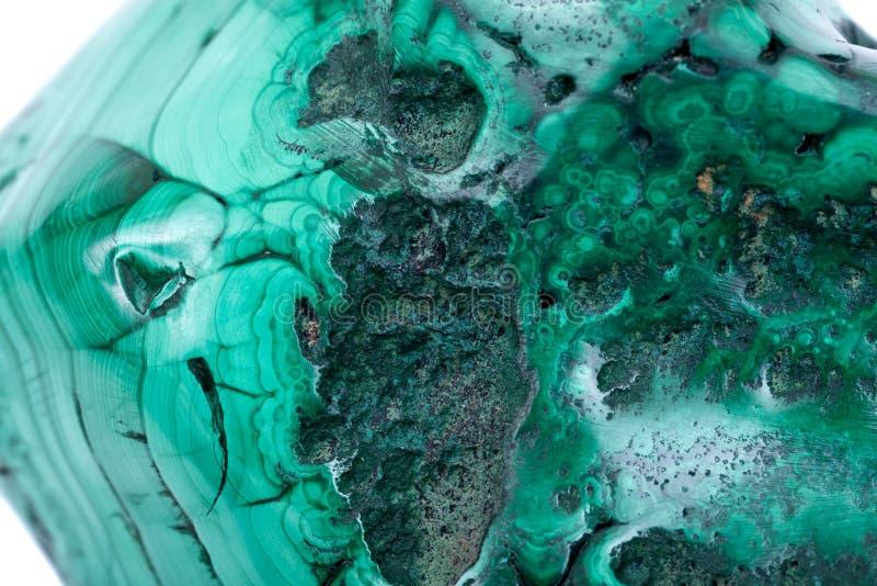 部分地优美的绿色自由格式舷窗绿沸铜标本 库存图片
