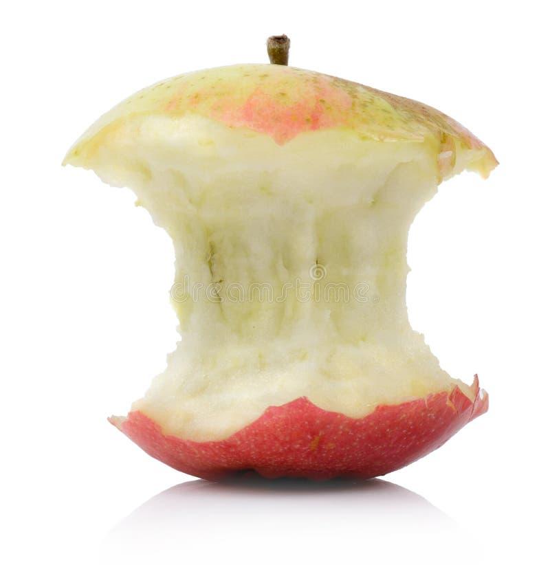 部分被吃的苹果 免版税库存图片