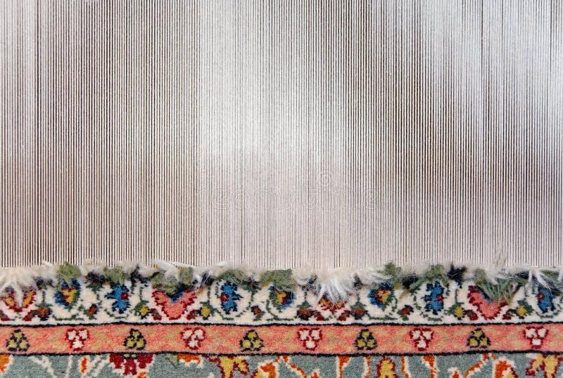 部分被编织的地毯 图库摄影