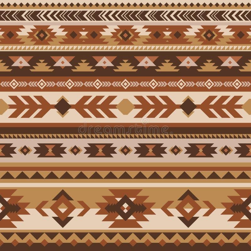 部族传染媒介无缝的样式 几何的阿兹台克人 向量例证