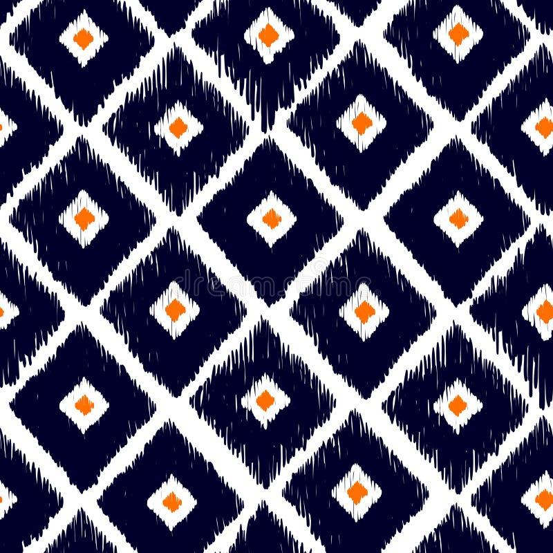 部族传染媒介无缝的样式 抽象背景被画的现有量 皇族释放例证