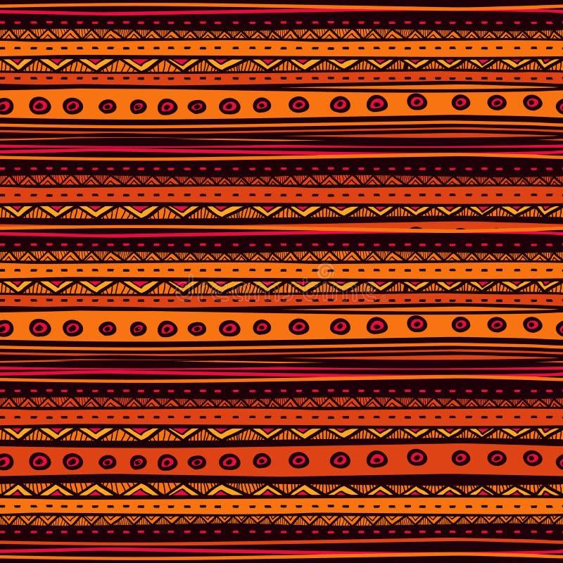 部族传染媒介无缝的样式 拉长的现有量 向量例证