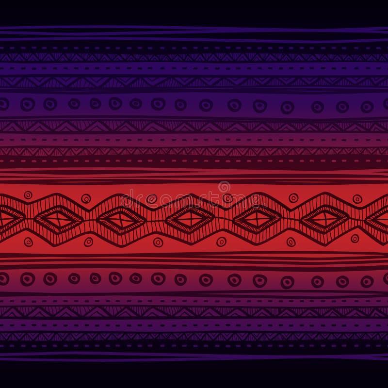 部族传染媒介无缝的织品样式 拉长的现有量 库存例证