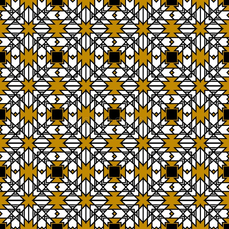 部族几何传染媒介无缝的样式 摘要被仿造的geo 皇族释放例证