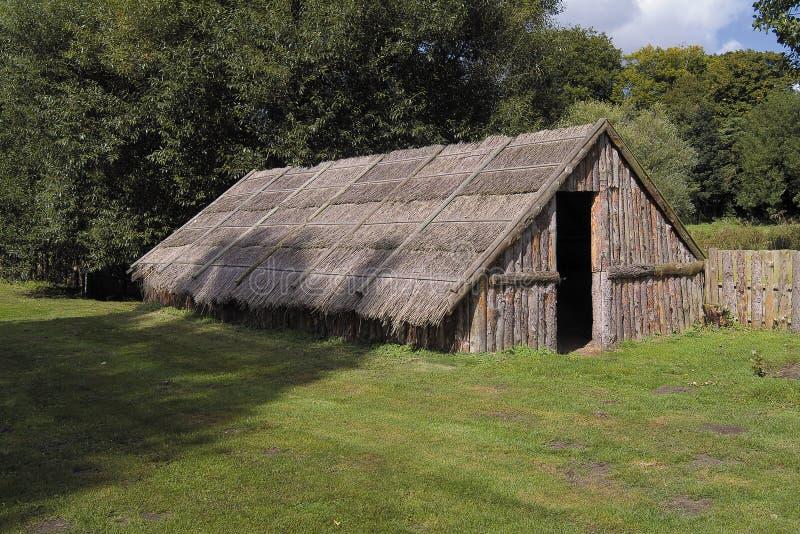 部族古老的住宅 图库摄影