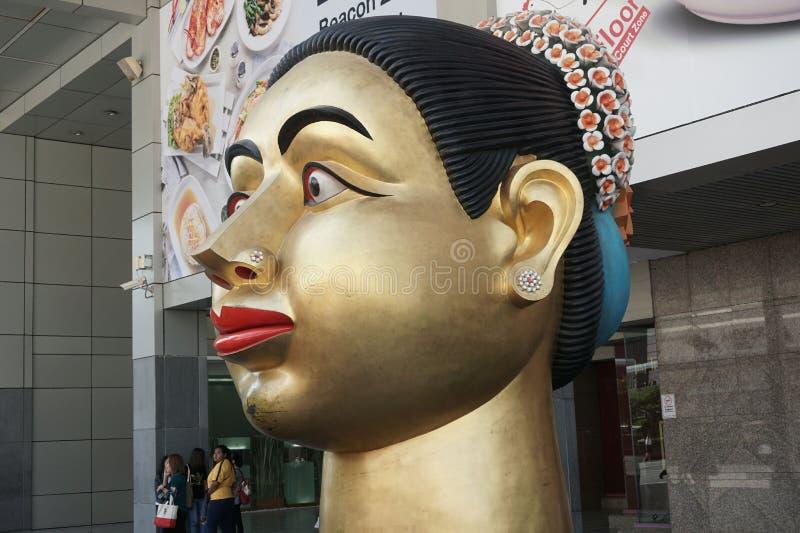 部族妇女雕象 库存图片