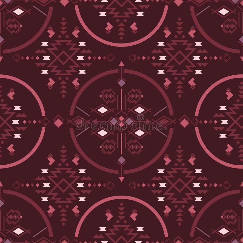 部族无缝的样式几何装饰品传染媒介例证 种族模式 边界装饰品 向量例证