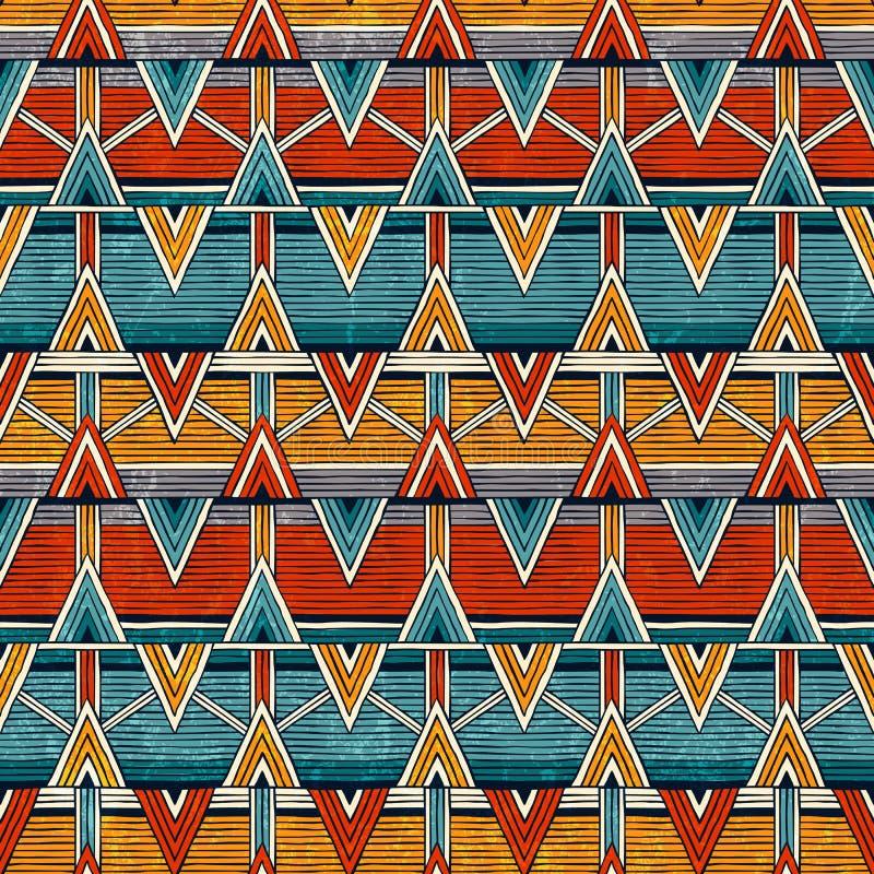 部族无缝的样式 抽象背景五颜六色的向量 向量例证