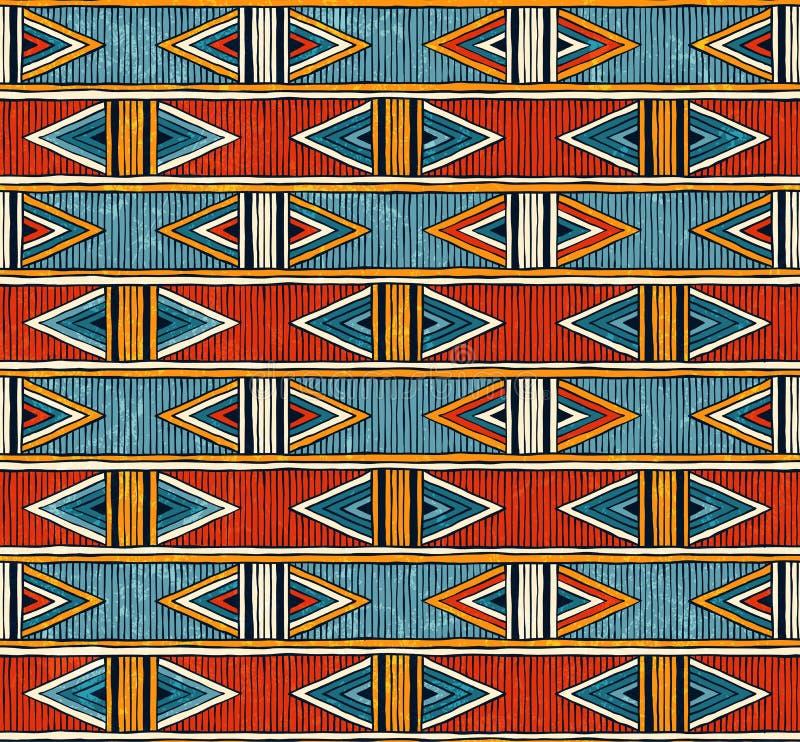 部族无缝的样式 抽象背景五颜六色的向量 皇族释放例证