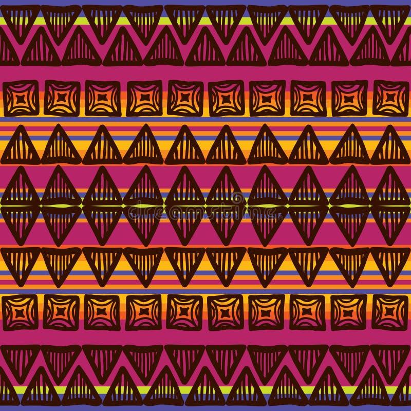 部族条纹图形 库存例证