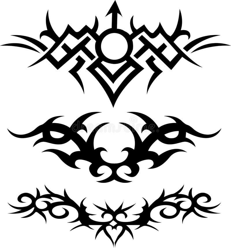 部族的纹身花刺 向量例证