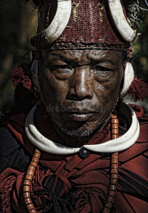 部族的那加兰邦 免版税库存图片