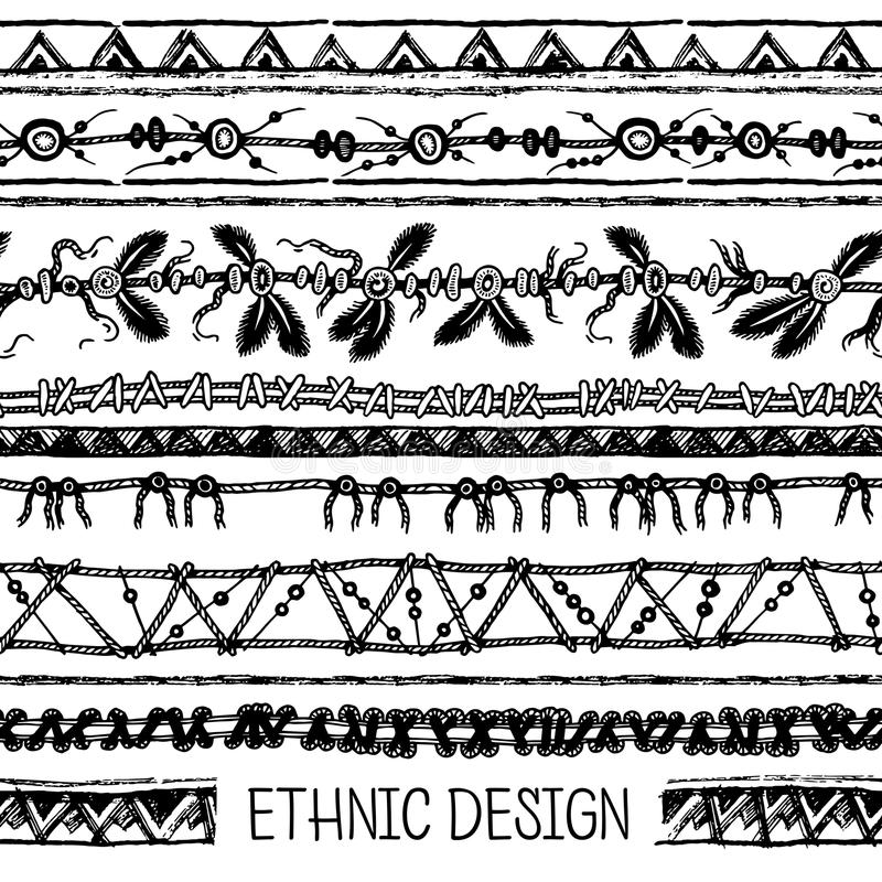 Download 部族种族无缝 黑白颜色 对邀请,网,纺织品,墙纸,包装纸 向量例证 - 插画 包括有 阿兹台克, 纸张: 72360702