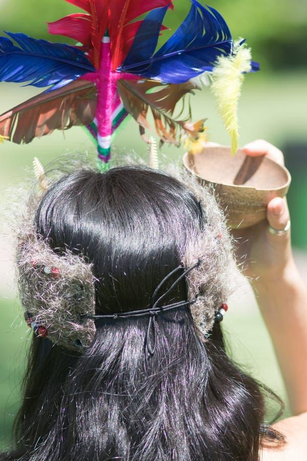 部族秘鲁妇女 库存照片