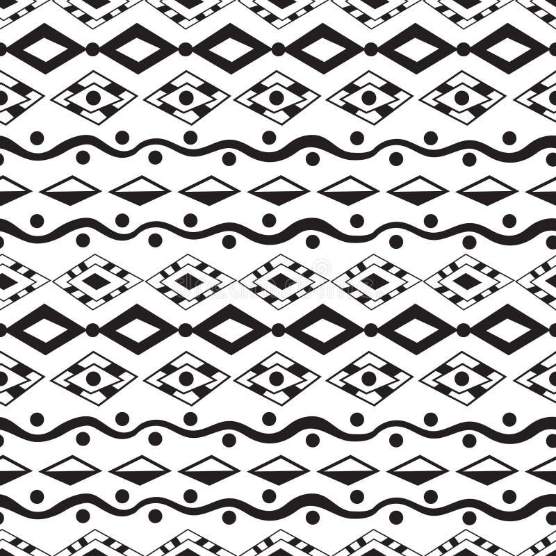 部族艺术种族无缝的样式 库存例证