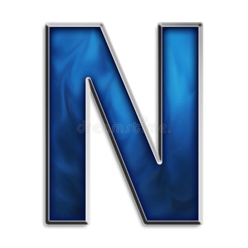 部族蓝色查出的字母N 皇族释放例证
