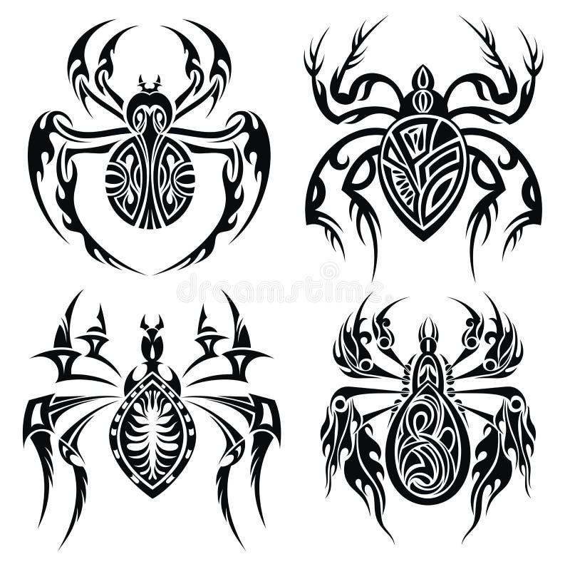 download 部族蜘蛛.纹身花刺设计 向量例证.