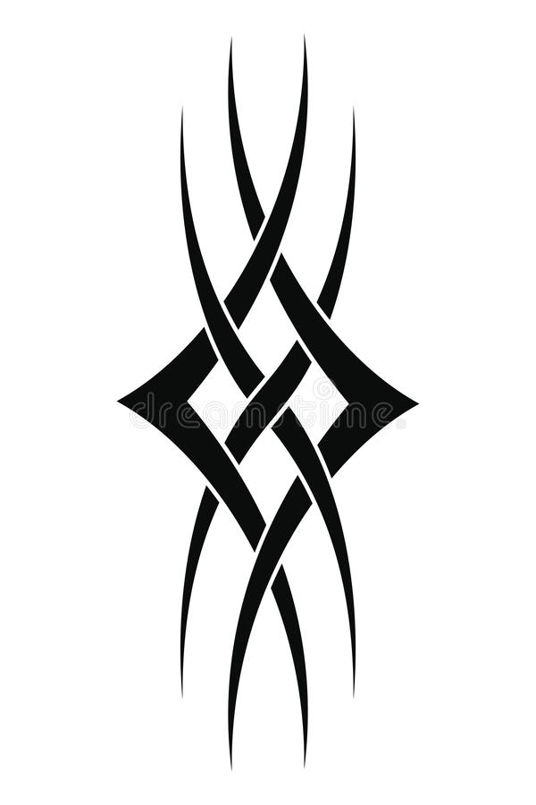 download 部族设计的纹身花刺 向量例证.