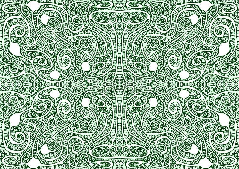部族迷宫无缝的样式背景 库存例证