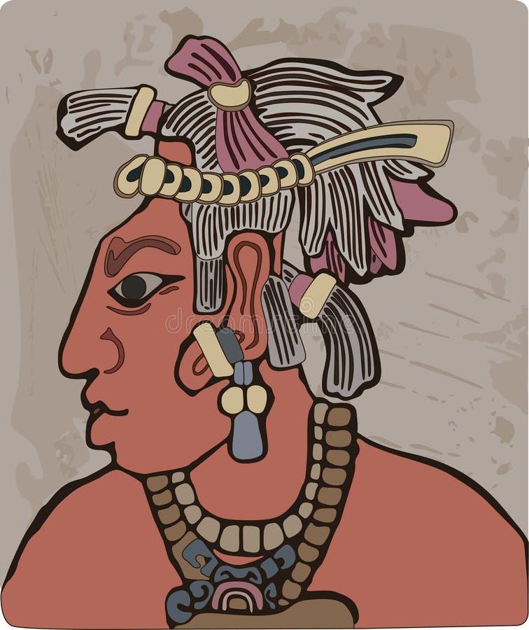 部族首要的玛雅人 皇族释放例证