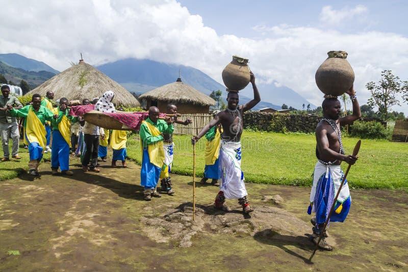 部族仪式-卢旺达 免版税图库摄影