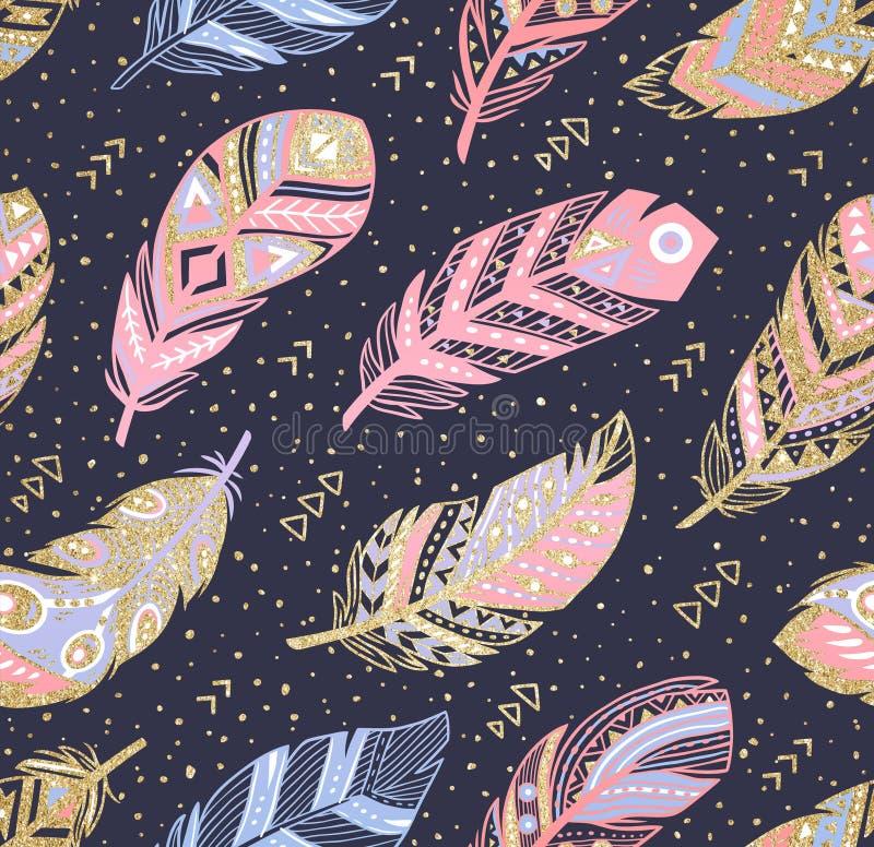 部族boho阿兹台克不尽的背景 象查找的画笔活性炭被画的现有量例证以图例解释者做柔和的淡色彩对传统 皇族释放例证