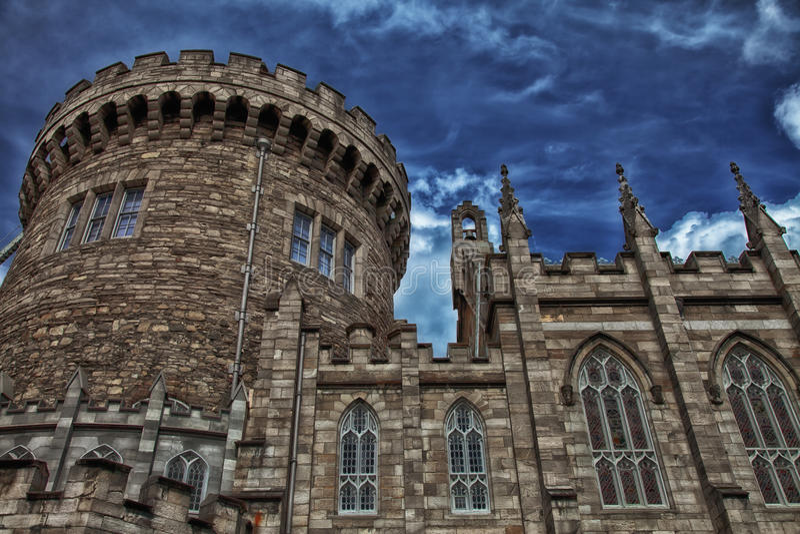 都伯林城堡 库存照片