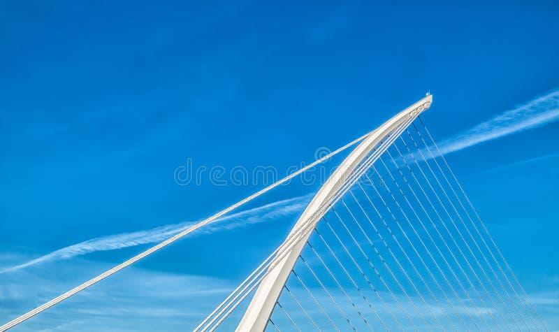 都伯林塞缪尔贝克特桥梁 免版税库存照片