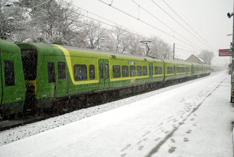 都伯林多雪的冬天 免版税库存照片
