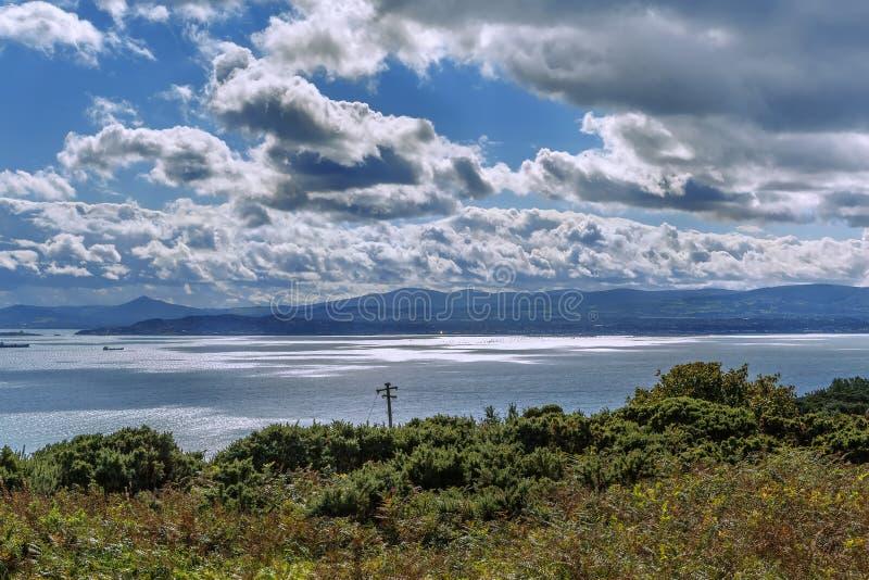 都伯林海湾,爱尔兰 库存图片