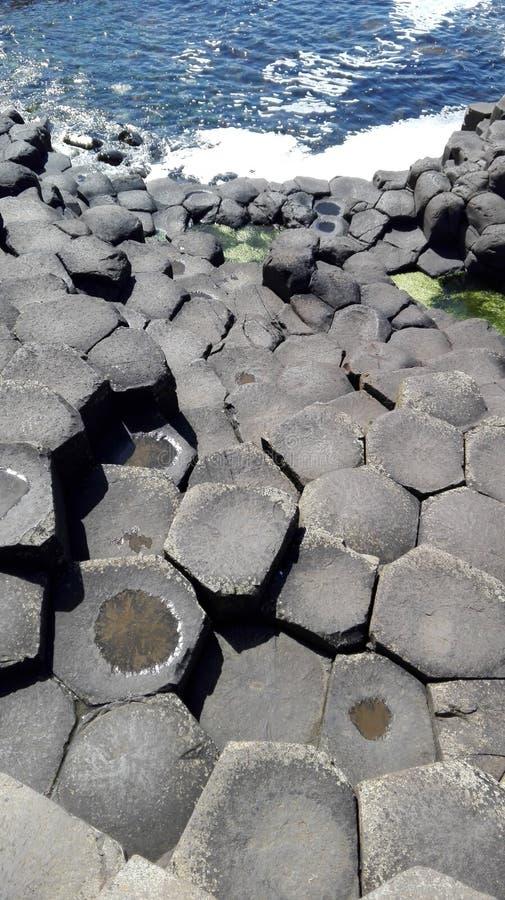 都伯林海滩专辑石头 免版税图库摄影