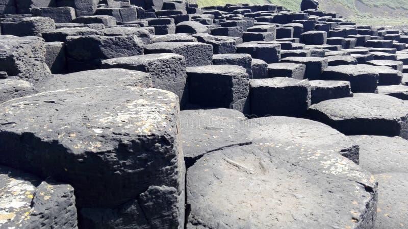 都伯林海滩专辑石头 免版税库存图片