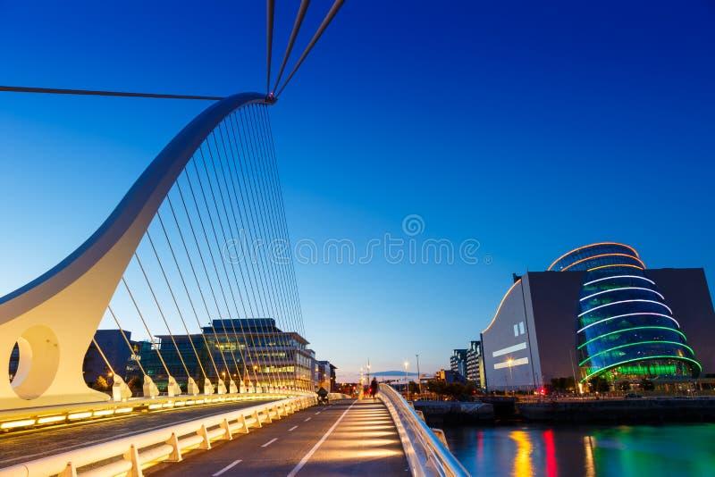 都伯林爱尔兰萨缪尔・贝克特桥梁 免版税库存照片