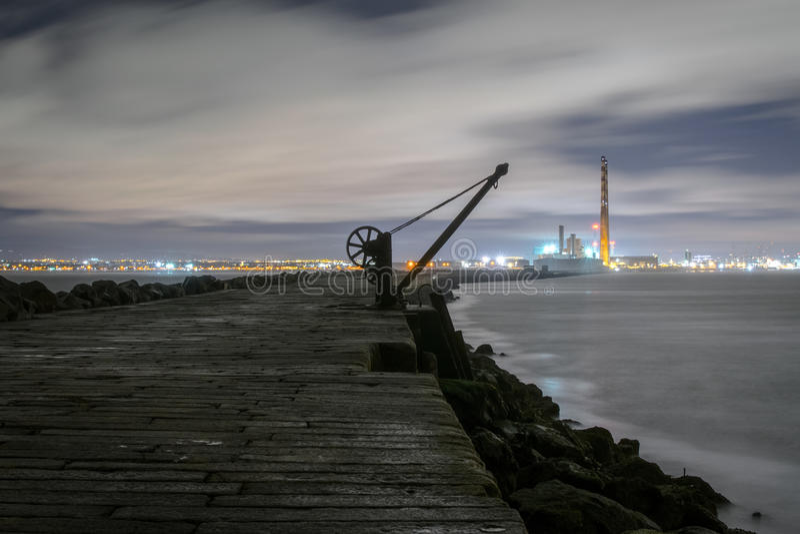 都伯林船坞, Poolbeg灯塔 免版税图库摄影