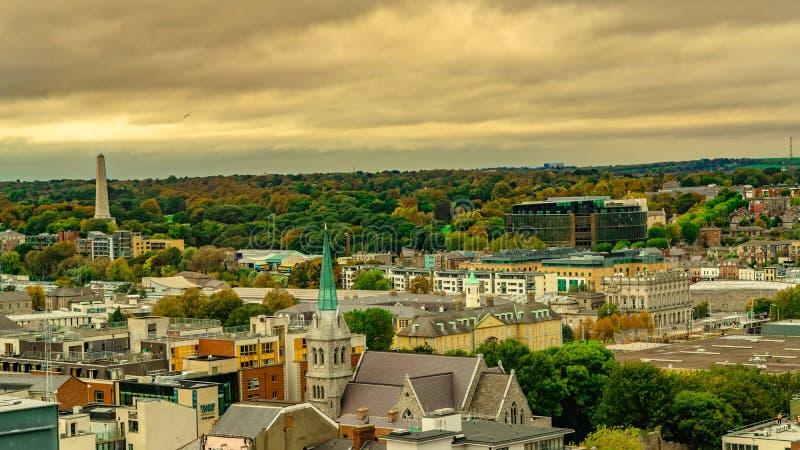 都伯林都市风景都伯林,爱尔兰共和国鸟瞰图从吉尼斯仓库的 免版税库存图片