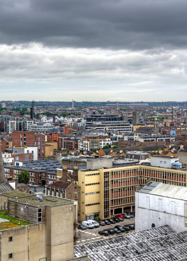 都伯林,爱尔兰一张鸟瞰图  库存图片