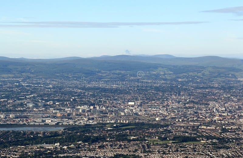 都伯林,爱尔兰鸟瞰图  库存照片