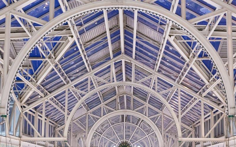 都伯林购物中心天花板  免版税库存照片