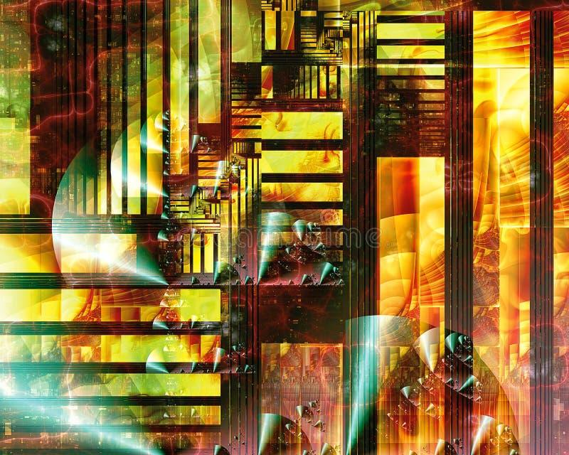 都市几何分数维IV 图库摄影