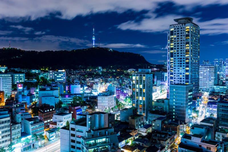 都市城市在汉城 库存照片