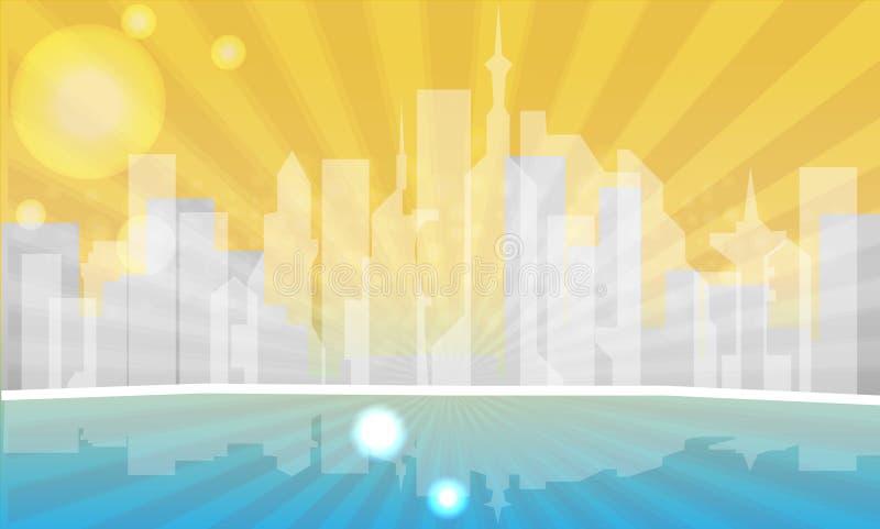 都市城市的例证 免版税库存照片