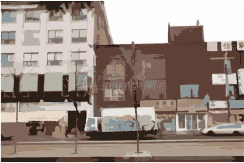 都市城市的场面 向量例证