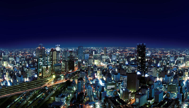 都市城市的晚上 免版税库存照片