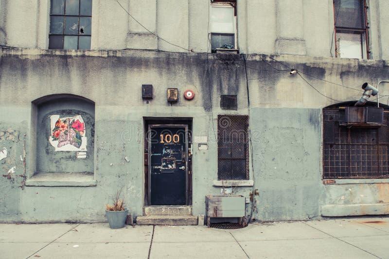 都市工业仓库背景威廉斯堡布鲁克林 库存图片