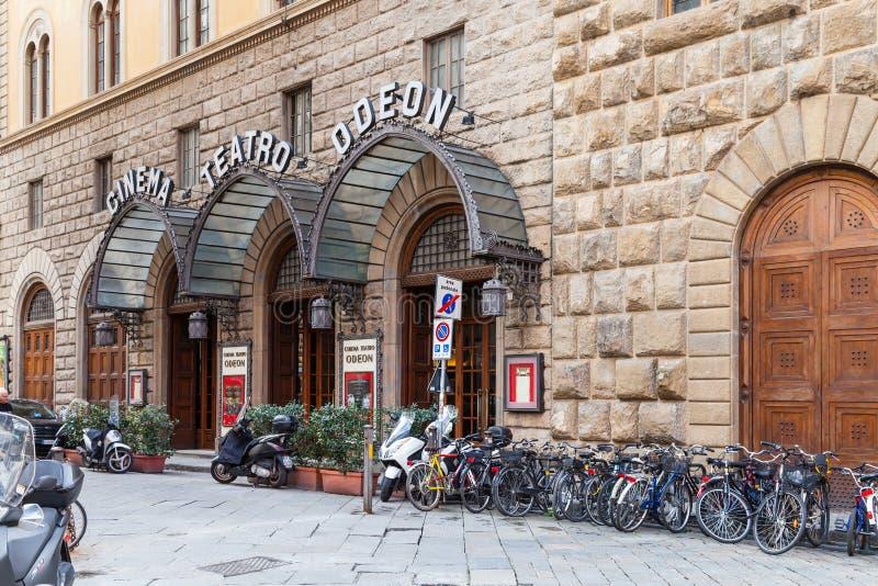 都市戏院Odeon看法在佛罗伦萨 免版税图库摄影