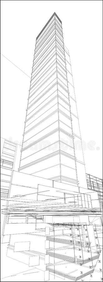 都市摩天大楼传染媒介171 图库摄影