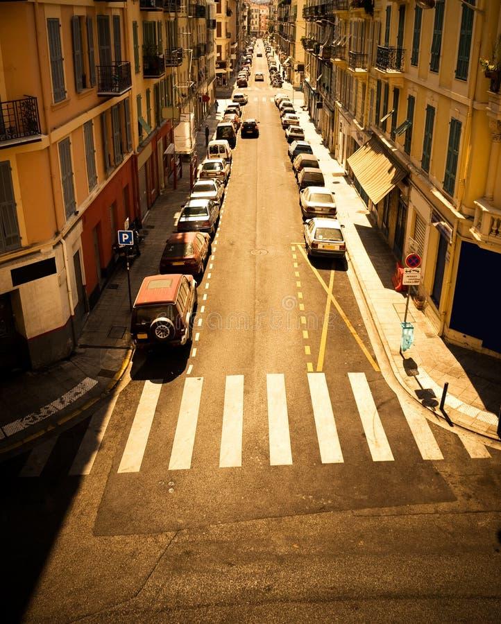 都市汽车的街道 免版税图库摄影