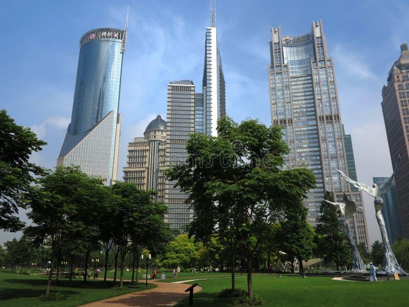 都市的上海,地平线 免版税图库摄影