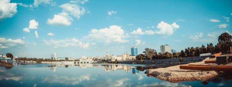 都市的全景 免版税图库摄影
