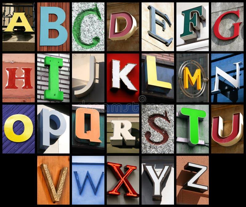 都市的字体 免版税图库摄影
